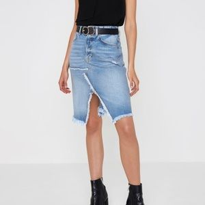 Brand new with tags attached denim split skirt